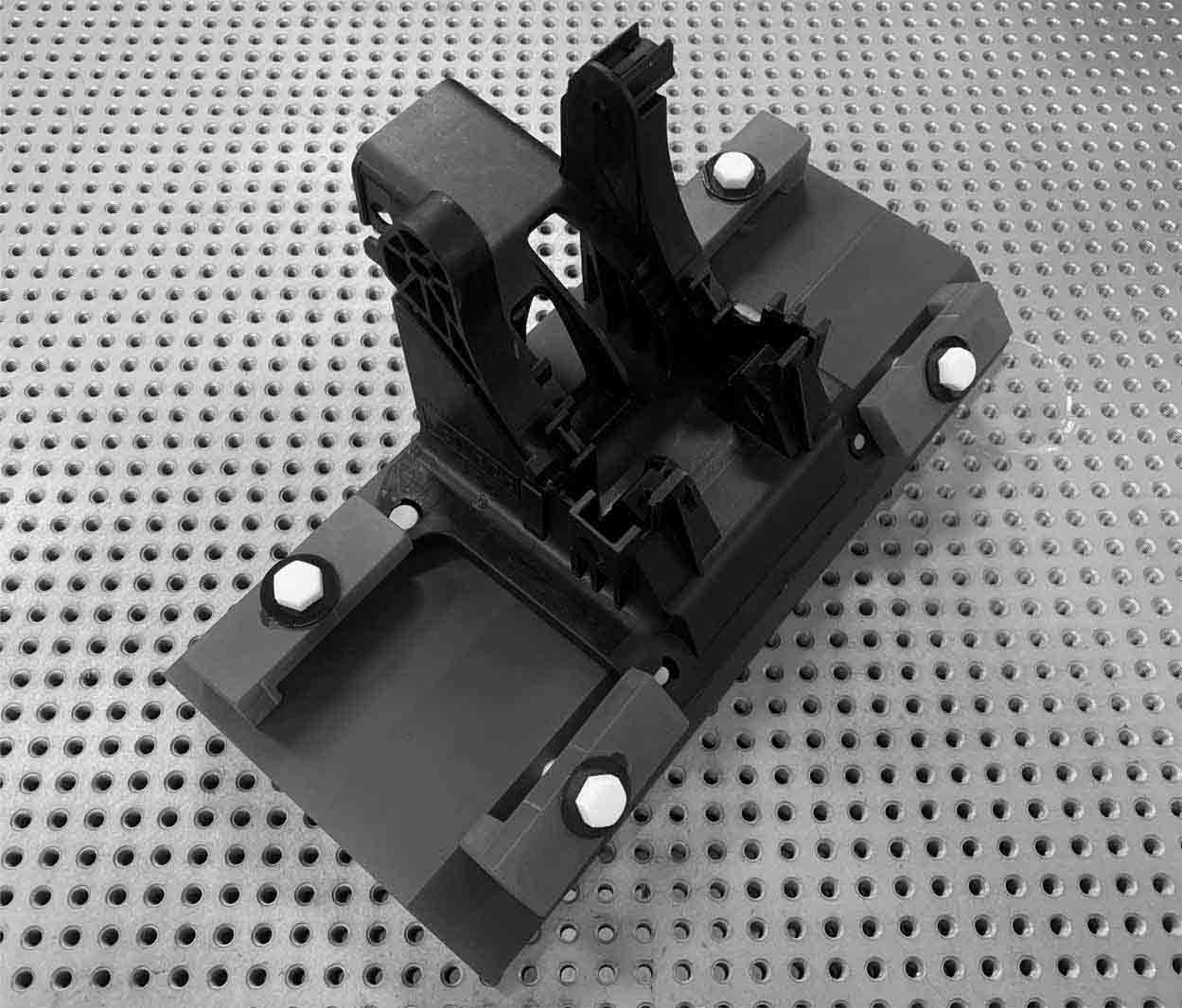 low density fixture for industrial x-ray & ct computed tomography